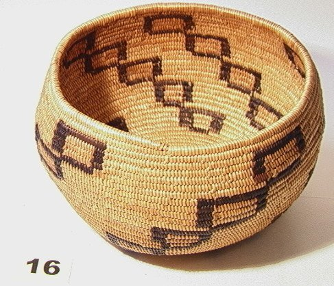 16: California Mission Basket. Native American Indian