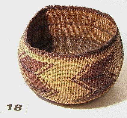 18: California Basket.   Native American Indian Basket