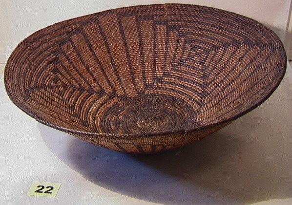 22: Large PIMA Geometric Bowl.   Native American Indian
