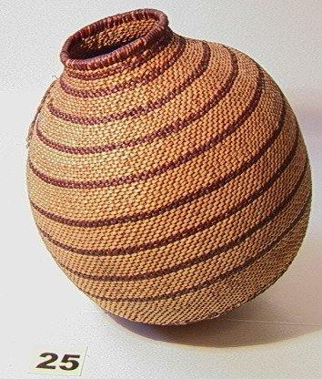 25: APACHE Basket. Native American Indian Basket