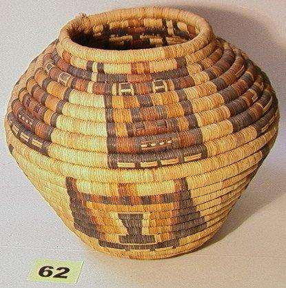 62: HOPI Basket. Native American Indian Basket