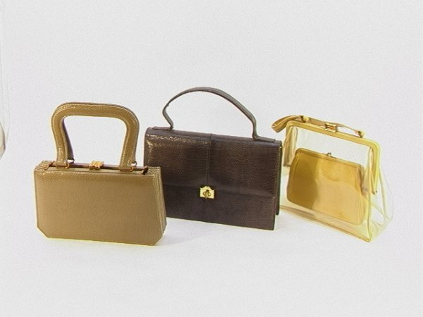 710: lot 3pcs Handbag Purses. Elizabeth Arden, Saks Fif