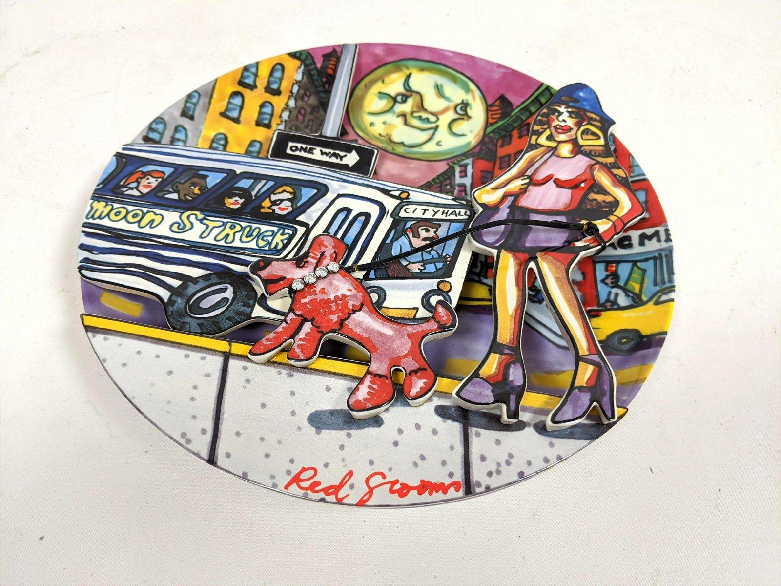"""RED GROOMS """"Moonstruck"""" 3-D Modernist Plate"""