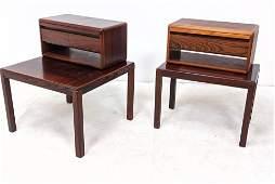 4pc VEJLE STOLE Danish Modern Rosewood Side Tables w Dr