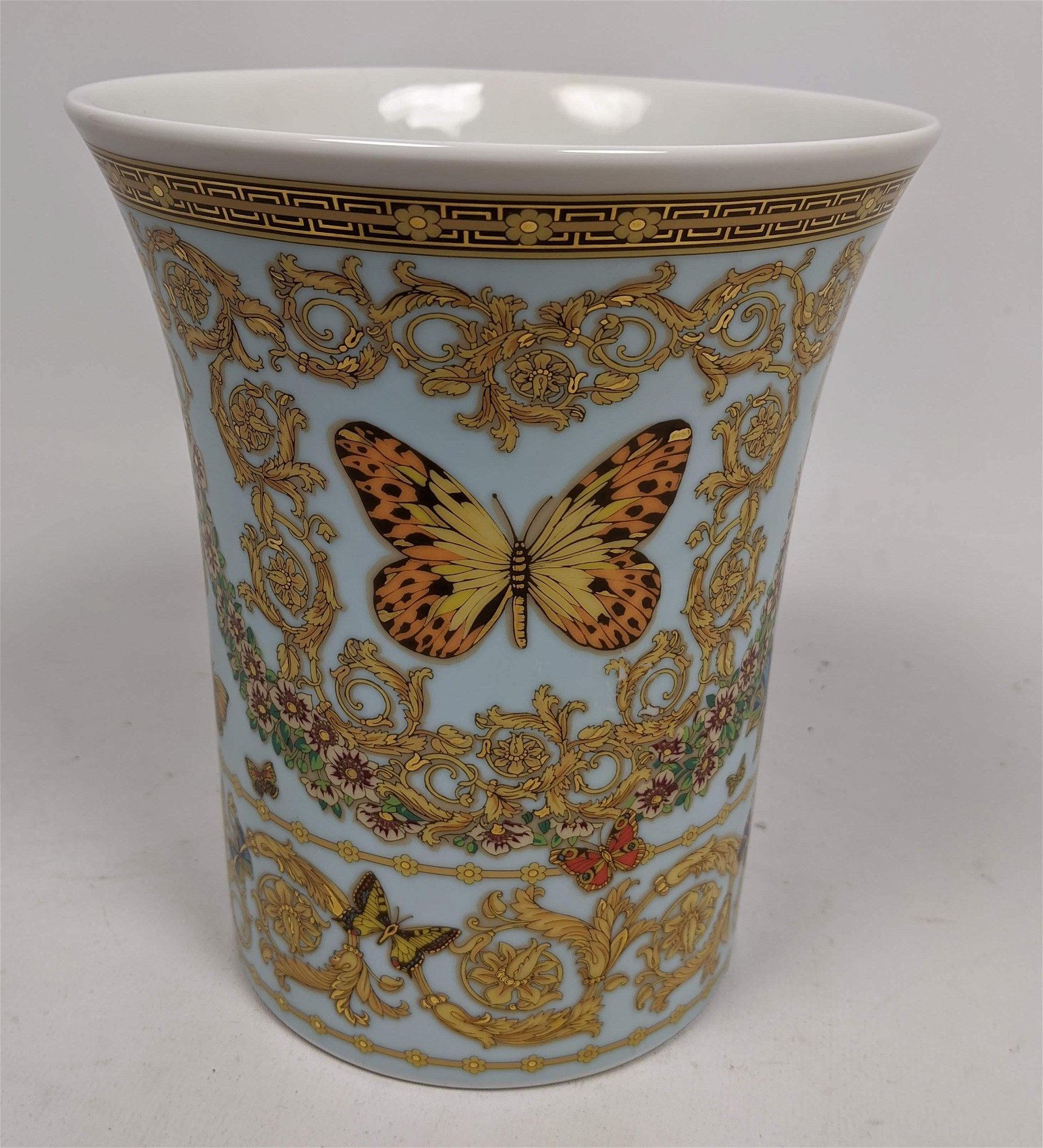 "GIANNI VERSACE for ROSENTHAL Butterfly Vase. ""Le jardin"