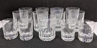 """13pc BACCARAT French Crystal Tumblers Glasses. """"Rotary"""""""