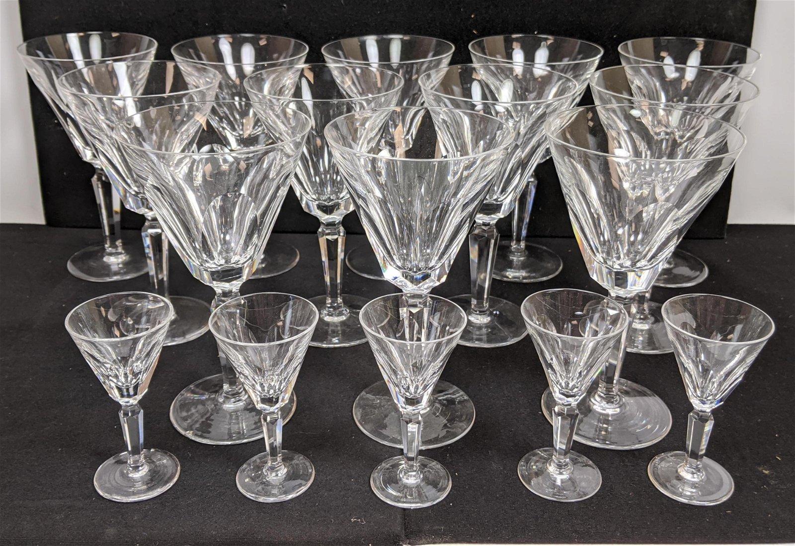"17pc WATERFORD Irish Fine Crystal Stemware. ""Clodagh"" p"