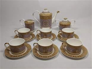 """15pc HERMES Coffee Service Set """"Mosaique au 24"""". Mosaic"""