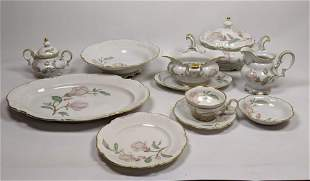 """86pc HUTSCHENREUTHER """"Magnolia"""" China Dinner Set Dishes"""