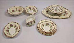 """42pc ALFRED MEAKIN China Dinnerware. """"Hollyhock"""" Mostly"""