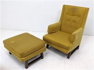 2pc DUNBAR Lounge Chair & Ottoman. Edward Wormley. Must