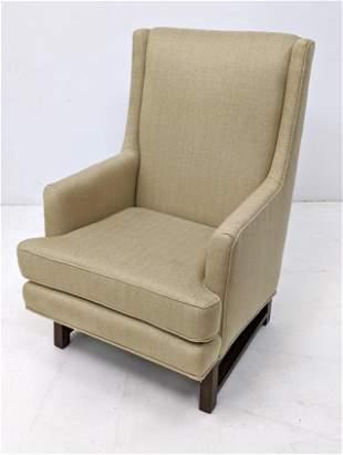 DUNBAR Arm Lounge Chair Edward Wormley. Khaki Patterned