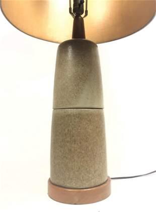 Jane & Gordon Martz  Art Pottery Table Lamp. Woven Shad