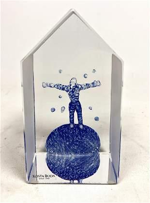 BERTIL VALIEN for KOSTA BODA Glass Table Sculpture