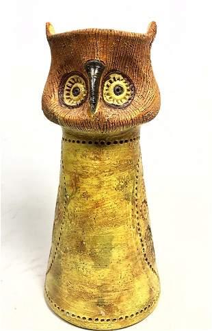 BITOSSI Figural Ceramic Owl Vase for ROSENTHAL NETTER.