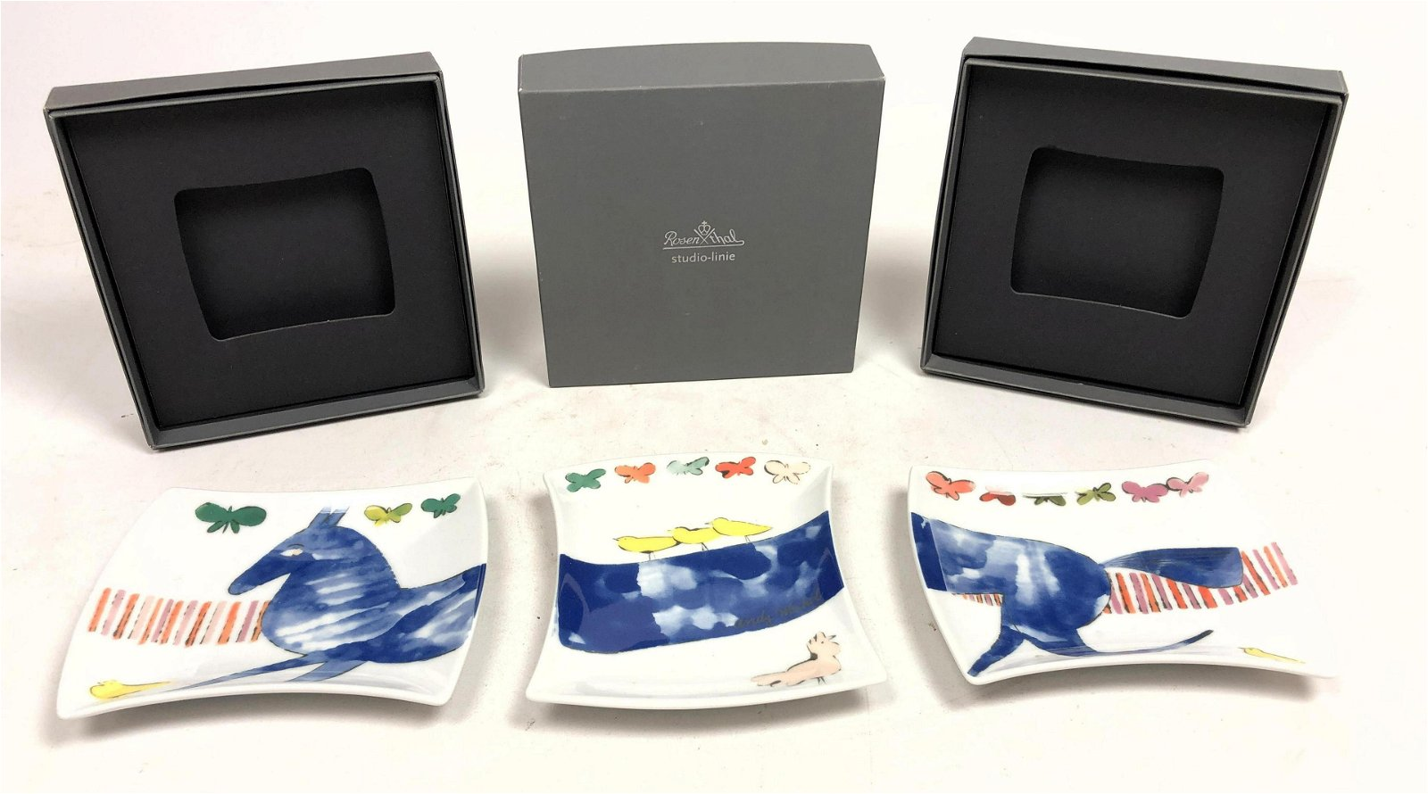 3pc ANDY WARHOL for ROSENTHAL STUDIO LINE Canape Plates