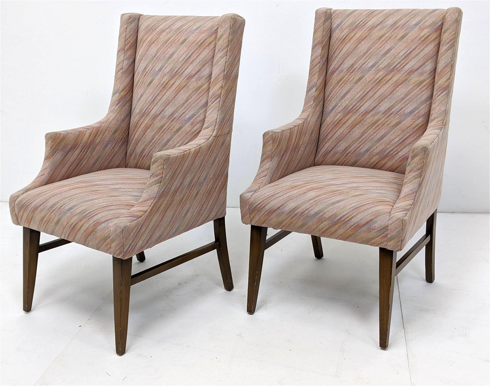 Pr TOMMI PARZINGER for Charak Upholstered Arm Chairs. P