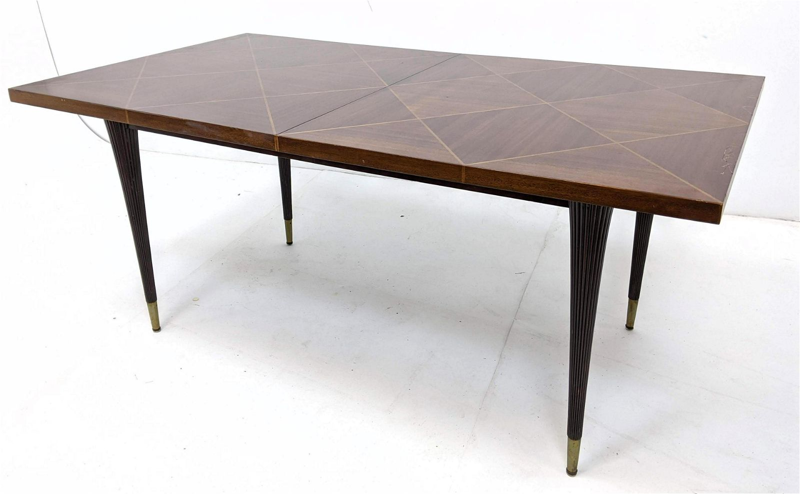 """TOMMI PARZINGER for CHARAK Dining Table. Two 17"""" leaves"""