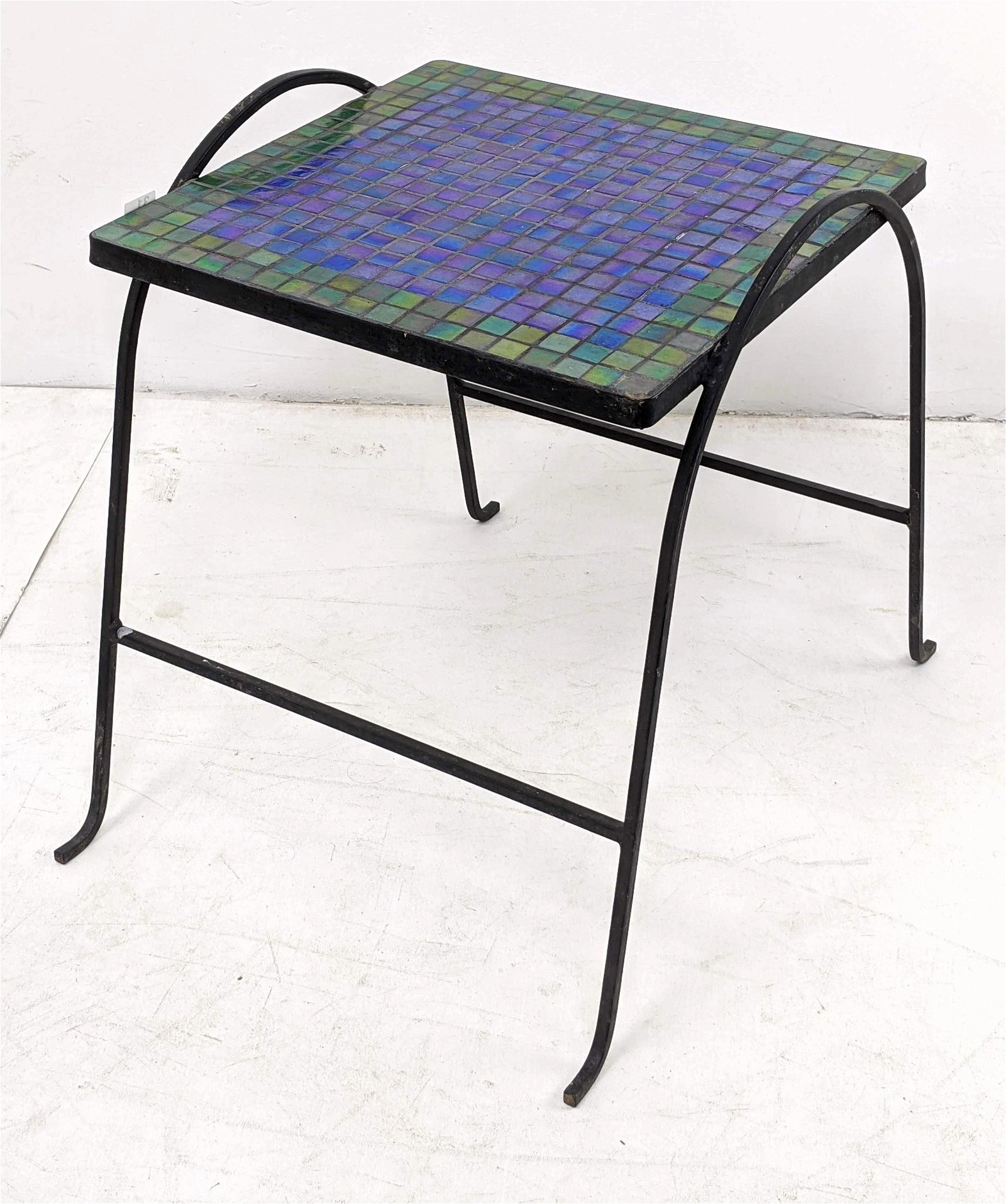 Salterini style Tile Top Plant Stand End Table. Pearles
