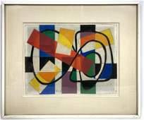 JAMES MEIKLE GUY Modernist Geometric Abstract Acrylic P