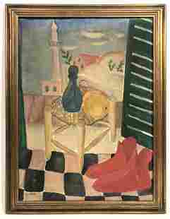 REUVEN RUBIN Still Life Oil Painting on Canvas. Signed