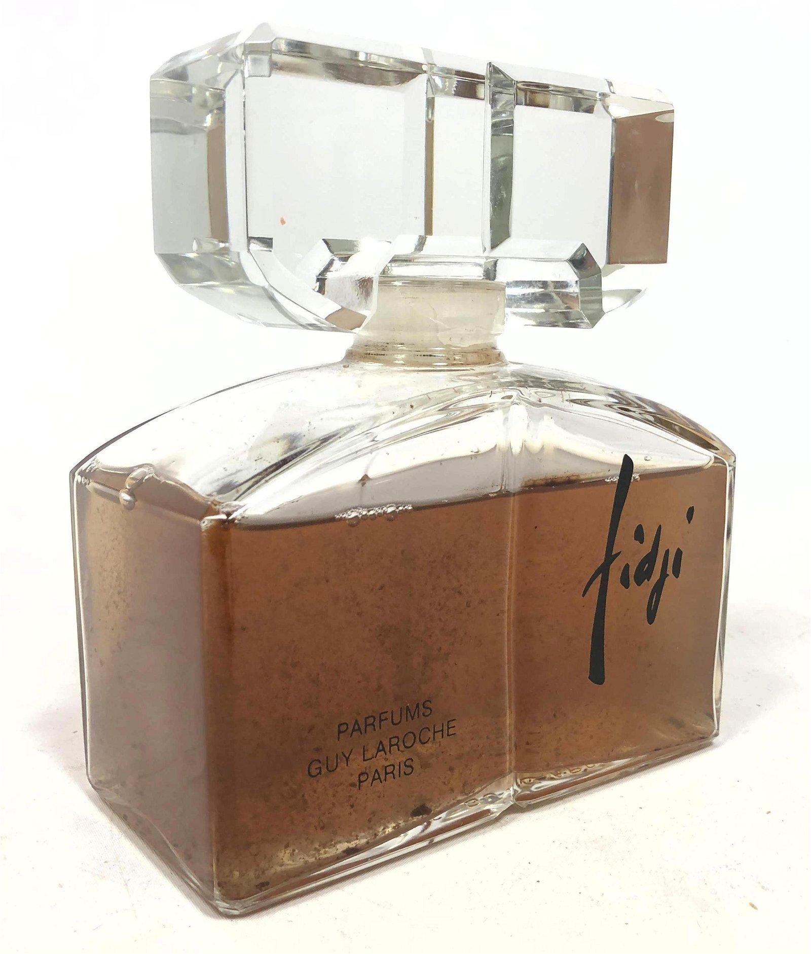 Large Fidji Glass Store Perfume Display Bottle. Filled