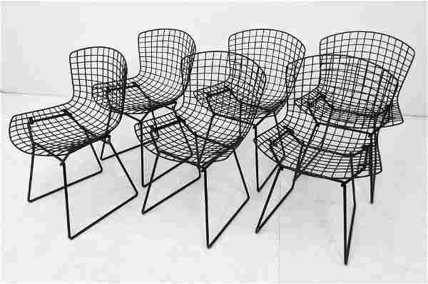 6pc HARRY BERTOIA Wire Side Chairs for KNOLL. Not marke