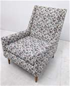 Paul McCobb style Arm Lounge Chair Floral upholstery w