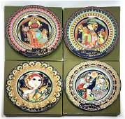 4 BJORN WIINBLAD for Rosenthal Decorative Plates WEINH