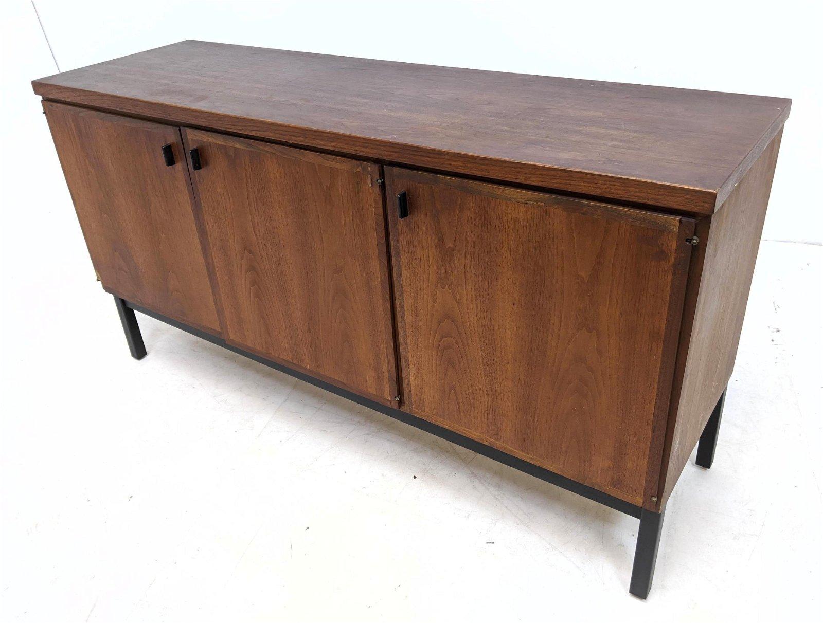 American Modern Milo Baughman Walnut Credenza Sideboard