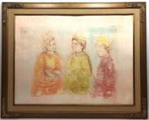 Signed EDNA HIBEL Large Lithograph Signed and marked 2