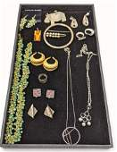 19pc Sterling Silver Contemporary Modern Jewelry Lot S