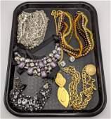 8pc Designer Costume Jewelry. KJL. DKNY. 2 KJL KENNETH