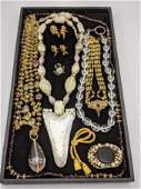 5pc Costume Jewelry  Necklace Lot Garnet bead necklac