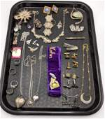 40pc Mostly Sterling Silver Vintage Jewelry Lot. Incl.