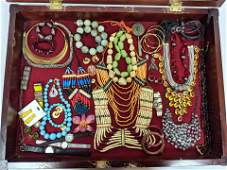 Case Lot D: Mixed Costume Jewelry Lot. Beaded necklaces