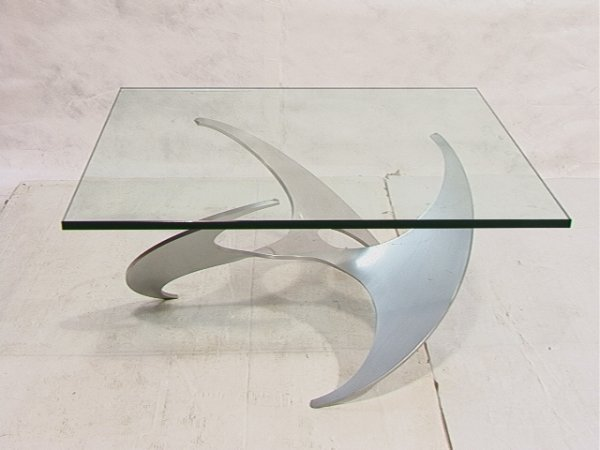 4: Knut Hesterberg Propeller Table with Square Glass To