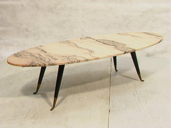 6: Italian Style Marble Top Surfboard Table Gio Ponti S