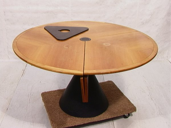 7: Bernini Italian Mechanical Table.  Round Adjustable