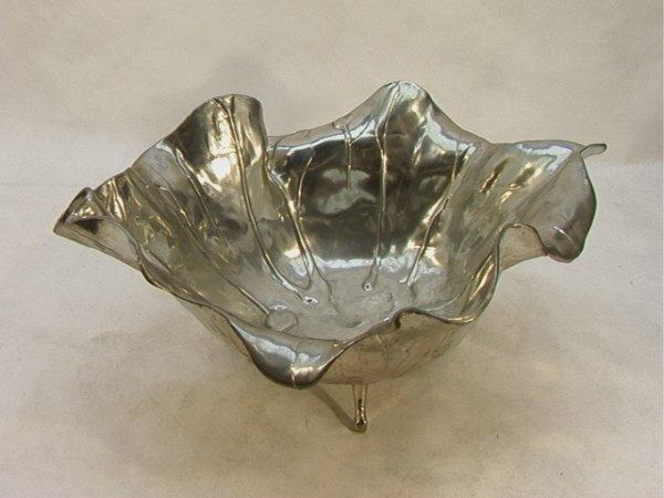 14: Castor Cooper Bowl American Art Nouveau. Pewter.  S