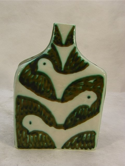 15: RAYMOR Italian Vase Decorated with Fish and Birds.
