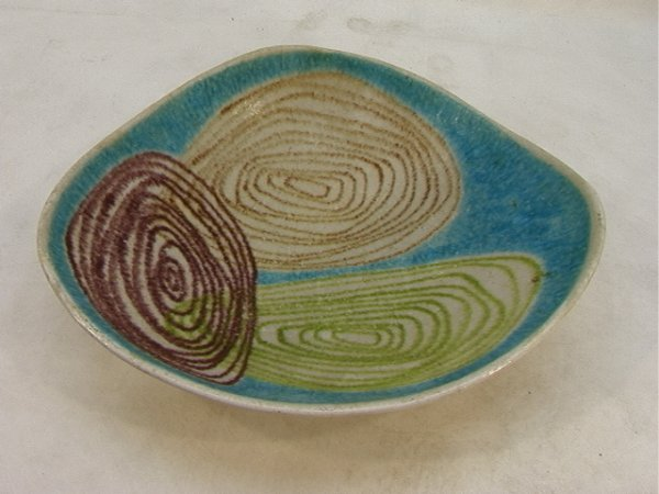 16: Italian RAYMOR Ceramic Bowl.  Gambone Style.   Dime