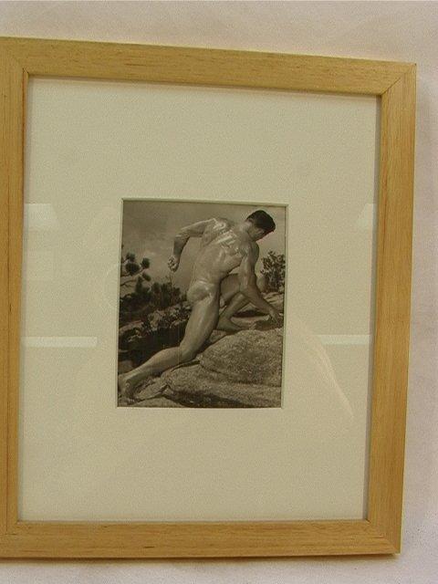 19: Vintage Male Pin Up Photograph. Beefcake Nude.  Sea