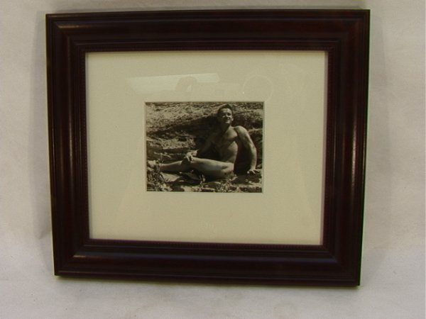 20: Vintage Male Pin Up Photograph. Beefcake Nude.  Cli