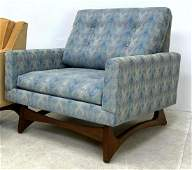 Adrian Pearsall Lounge Chair with Arched wood frame.