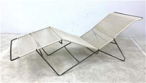 Wonderful Vintage Hairpin Iron Chaise Lounge Chair  Ro