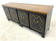 BAKER Orientalist Low Credenza Cabinet with Gold Highli