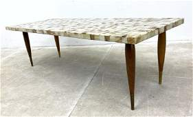 Muller Onyx Coffee Cocktail Table. Rectangular top on t