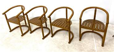 Set 4 Decorator Bow Back Dining Chairs  Curved wood sl