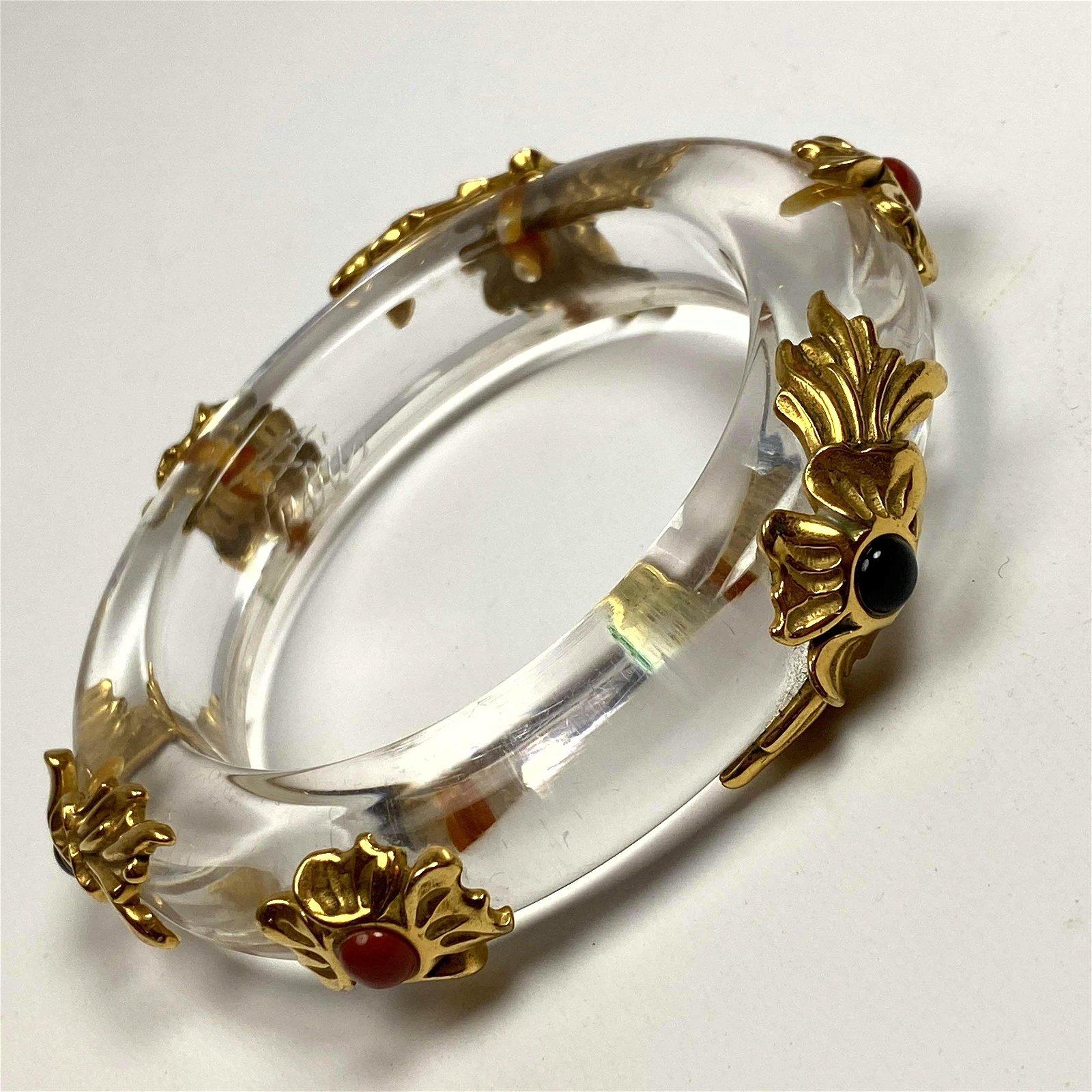 INNA CYTRINE Paris Clear Lucite Bangle Bracelet. Design